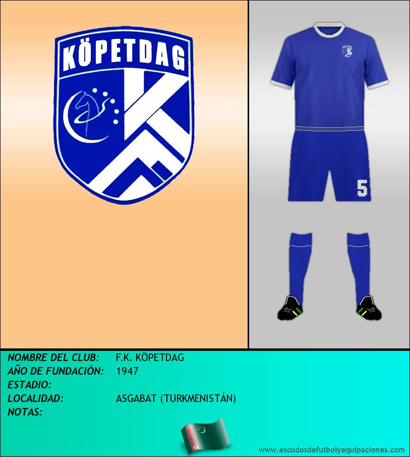 Escudo de F.K. KÖPETDAG