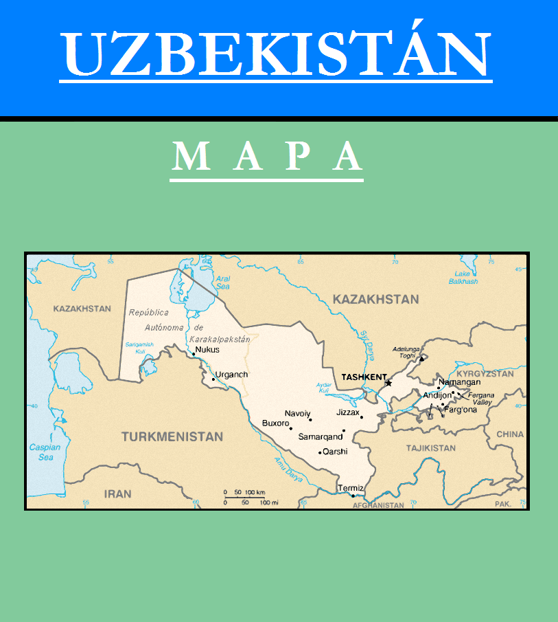 Escudo de MAPA DE UZBEKISTÁN