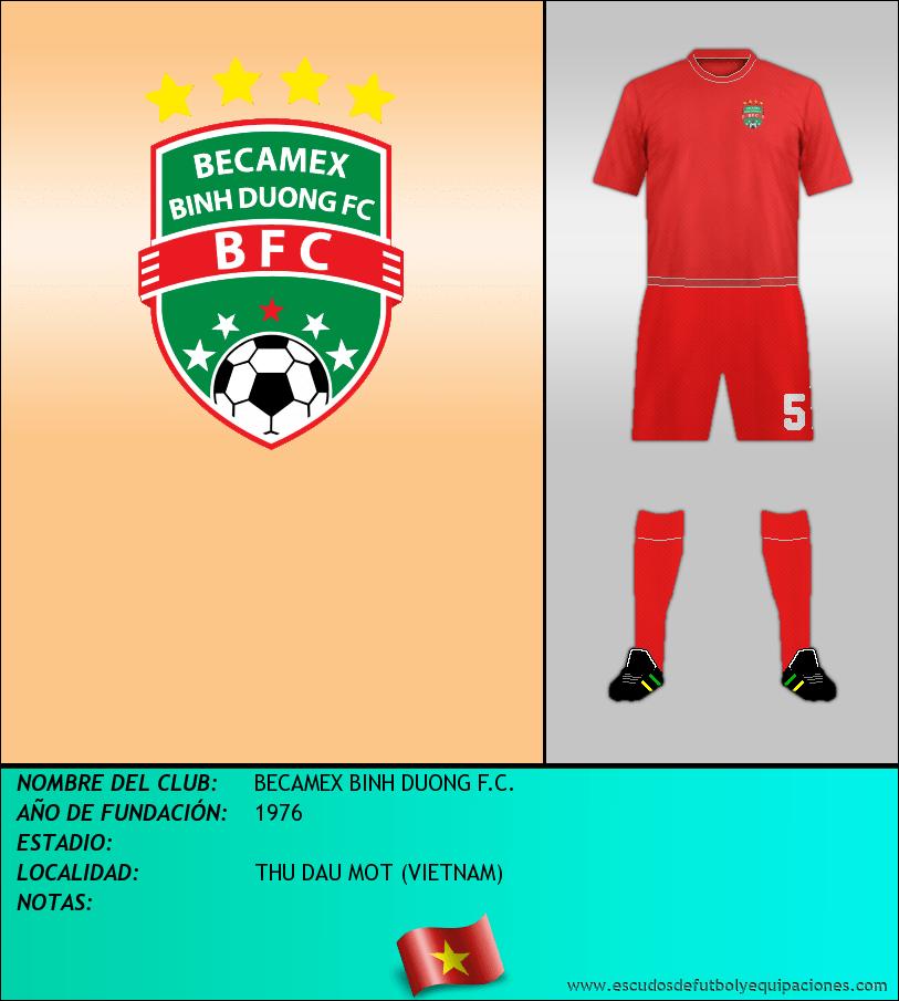 Escudo de BECAMEX BINH DUONG F.C.
