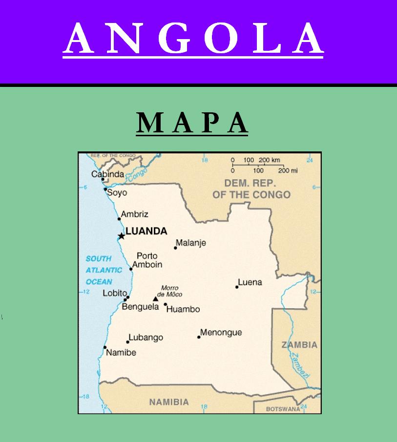 Escudo de MAPA DE ANGOLA