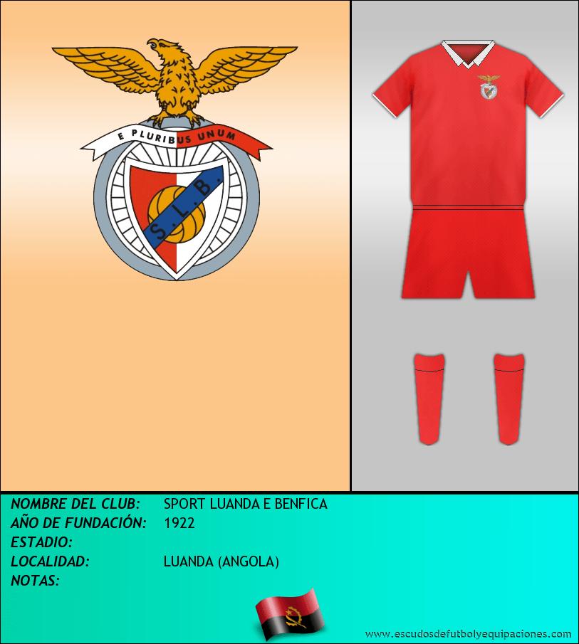 Escudo de SPORT LUANDA E BENFICA