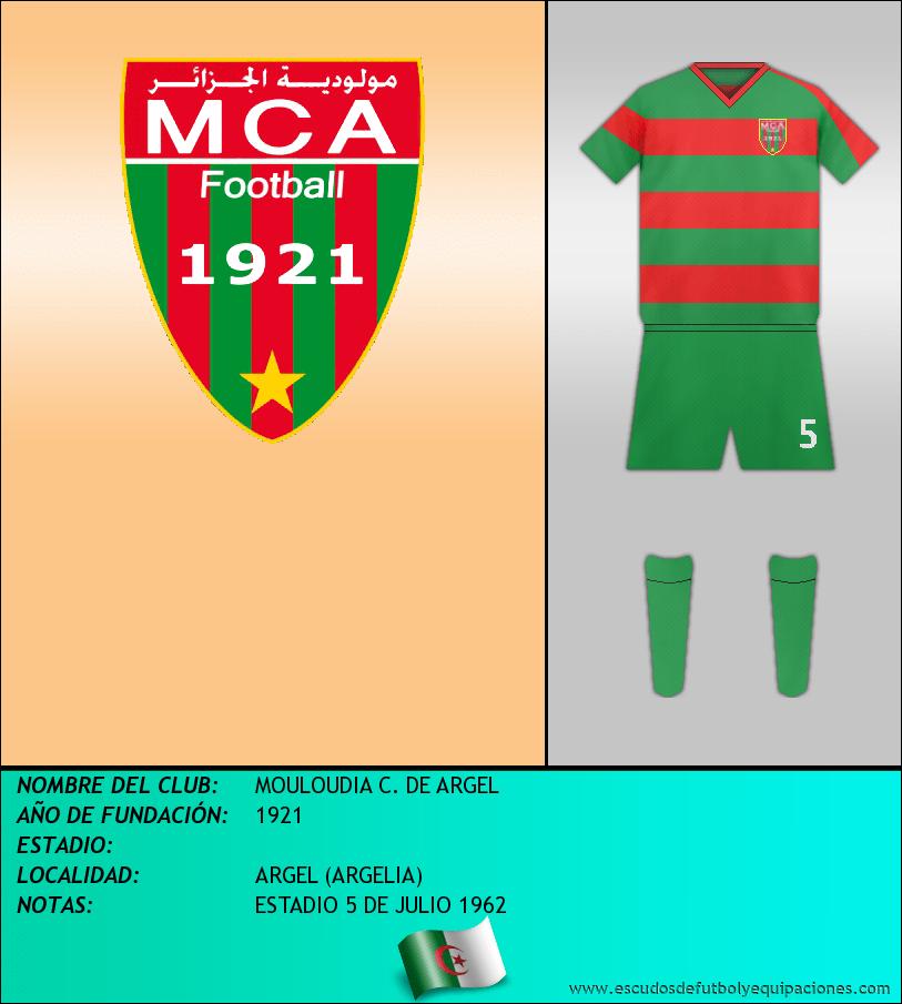 Escudo de MOULOUDIA C. DE ARGEL