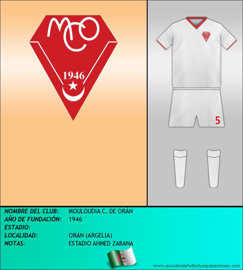 Escudo de MOULOUDIA C. DE ORÁN