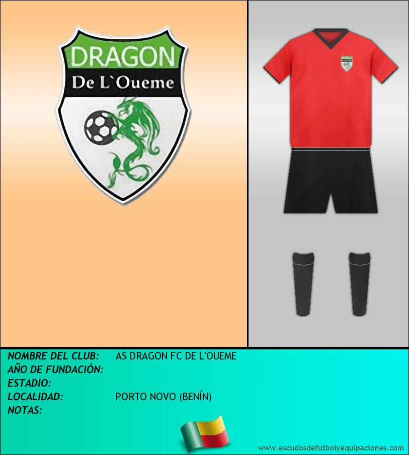 Escudo de AS DRAGON FC DE L'OUEME