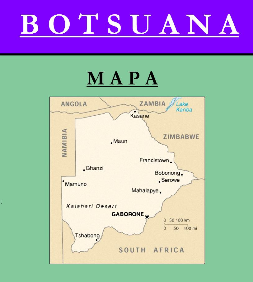 Escudo de MAPA DE BOTSUANA