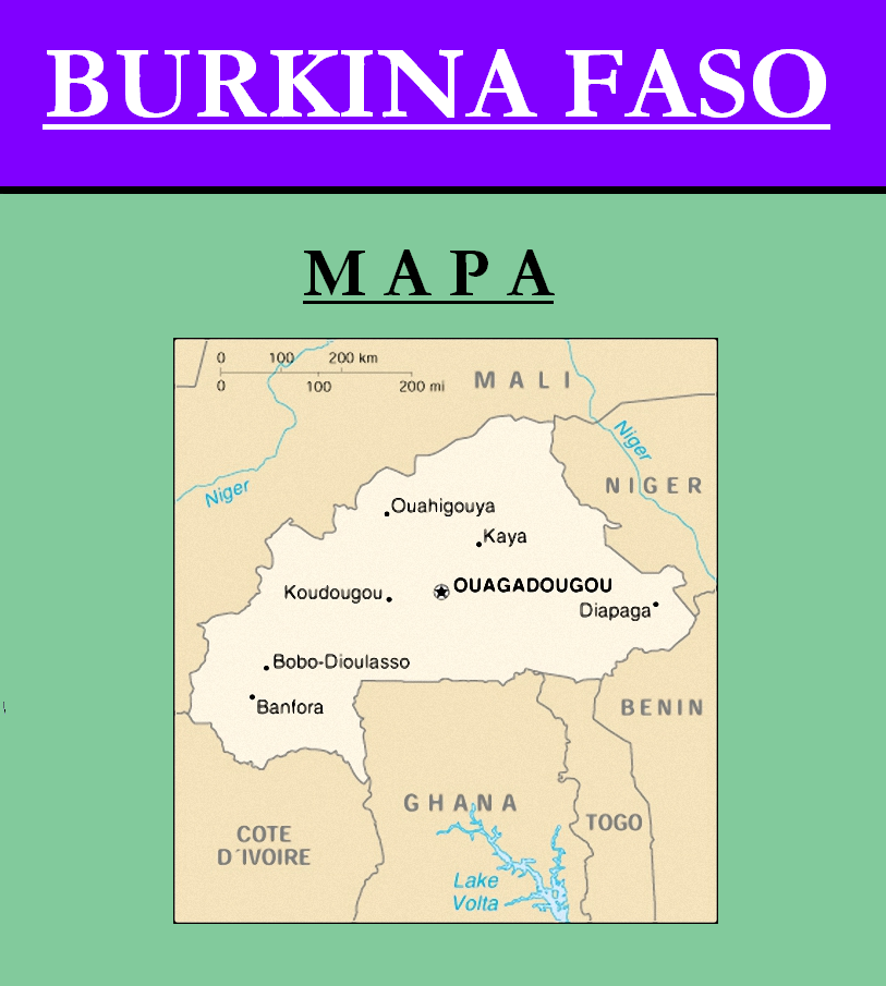 Escudo de MAPA DE BURKINA FASO