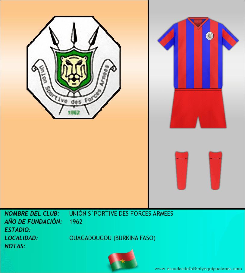 Escudo de UNIÓN S`PORTIVE DES FORCES ARMEES
