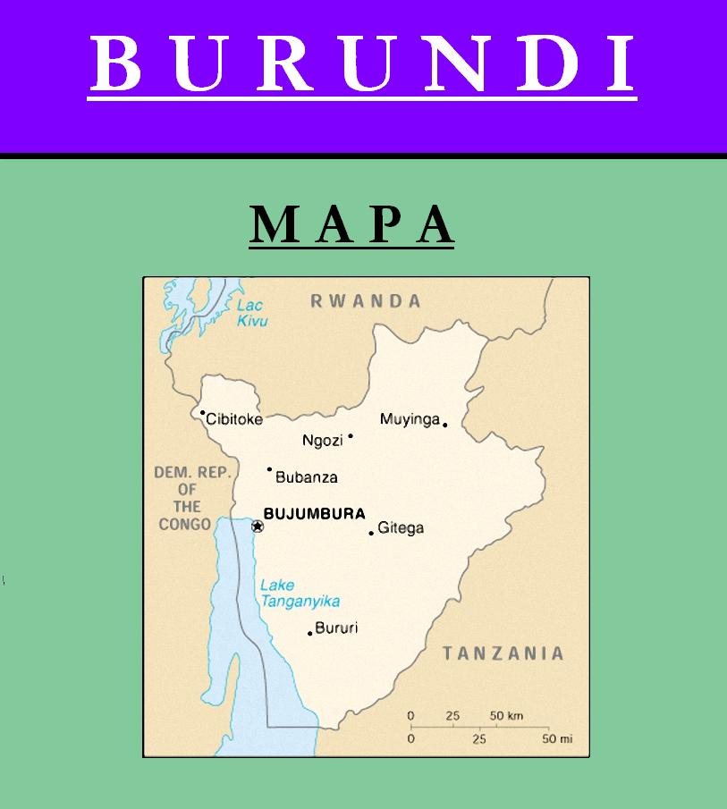 Escudo de MAPA DE BURUNDI