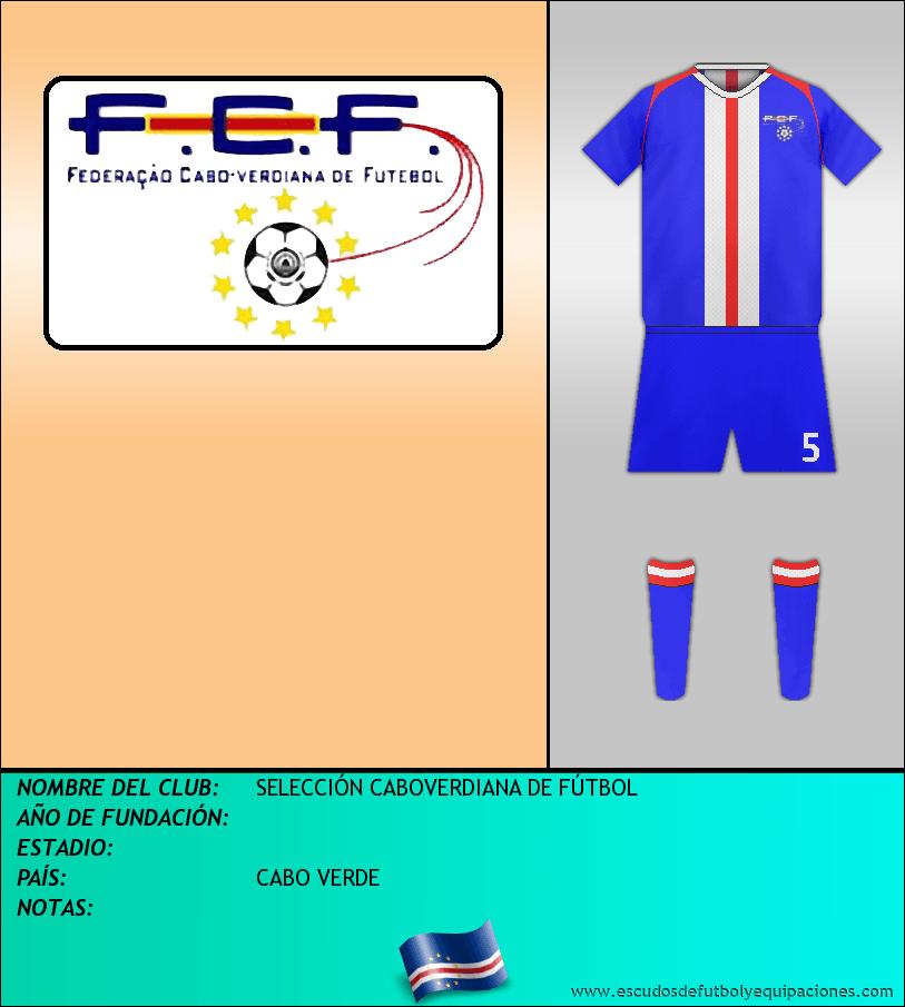 Escudo de SELECCIÓN CABOVERDIANA DE FÚTBOL