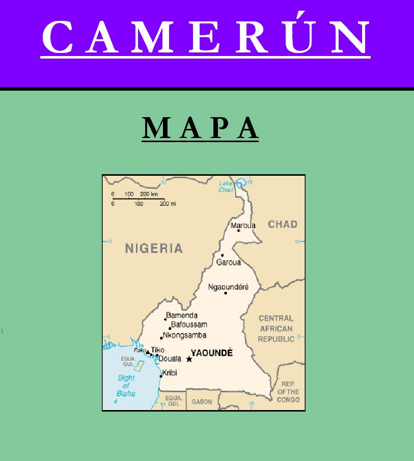 Escudo de MAPA DE CAMERÚN
