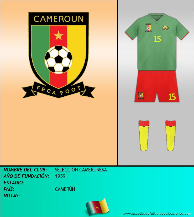 Escudo de SELECCIÓN CAMERUNESA