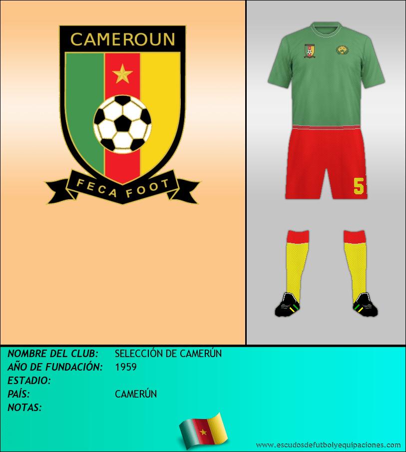 Escudo de SELECCIÓN DE CAMERÚN