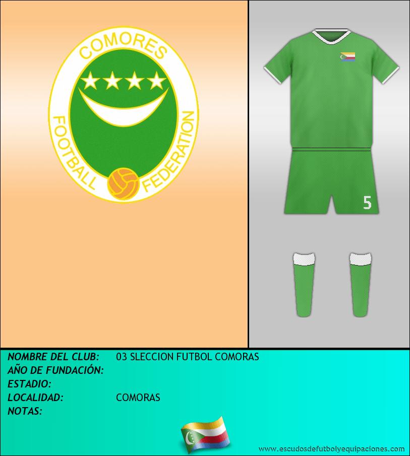 Escudo de 03 SLECCION FUTBOL COMORAS