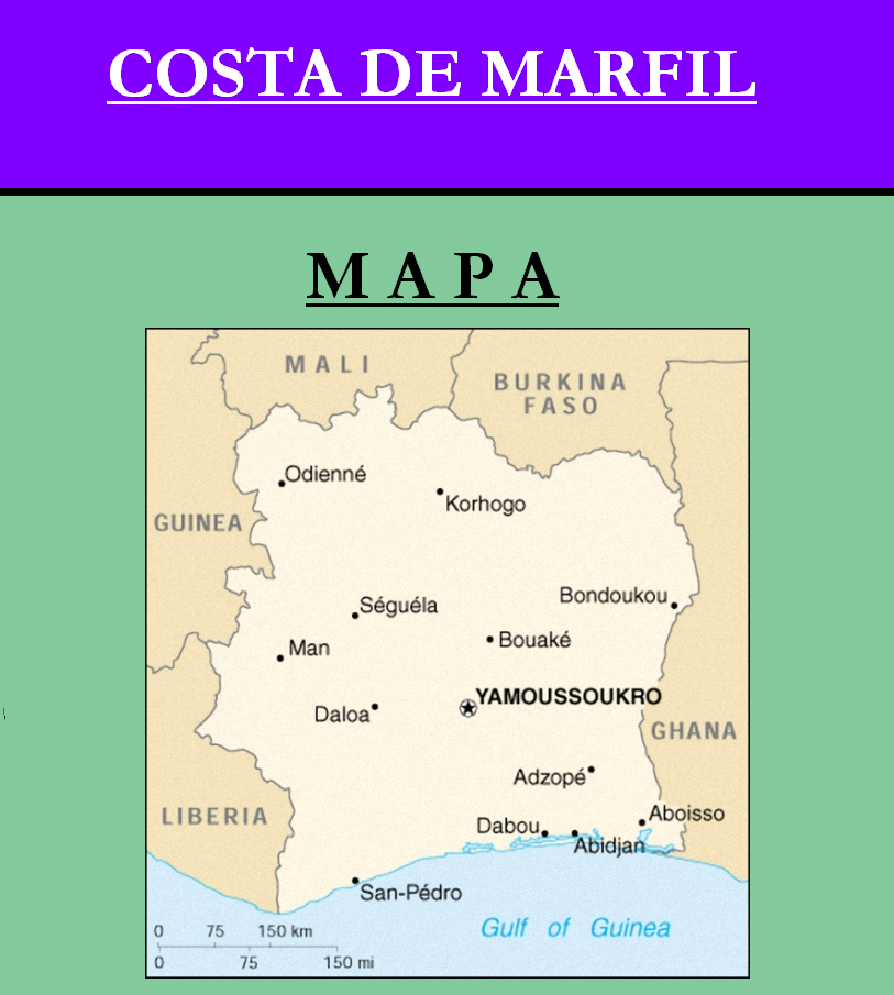 Escudo de MAPA DE COSTA DE MARFIL