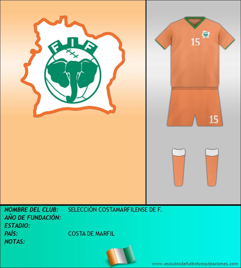 Escudo de SELECCIÓN COSTAMARFILENSE DE F.
