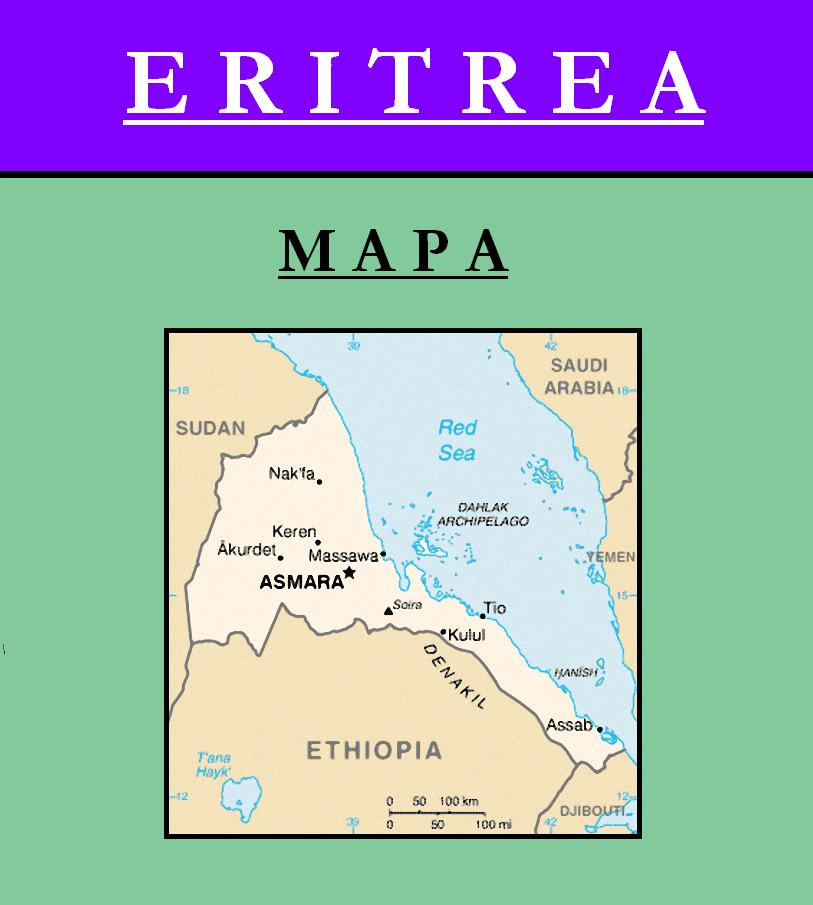 Escudo de MAPA DE ERITREA