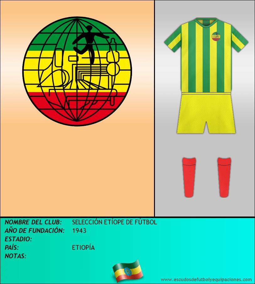 Escudo de SELECCIÓN ETÍOPE DE FÚTBOL