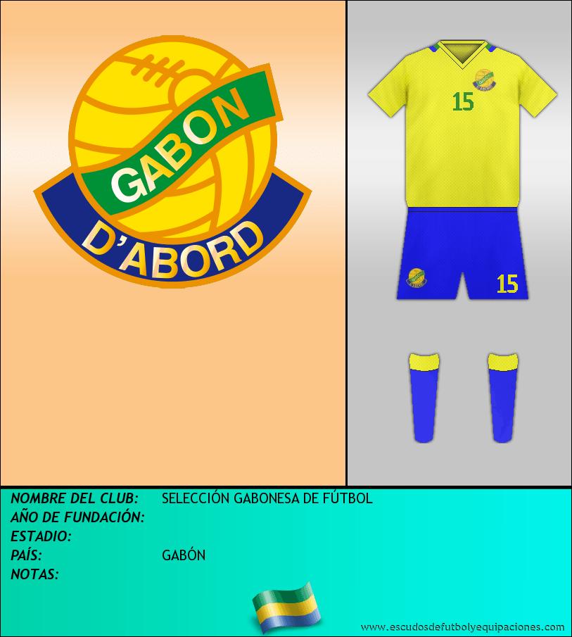 Escudo de SELECCIÓN GABONESA DE FÚTBOL