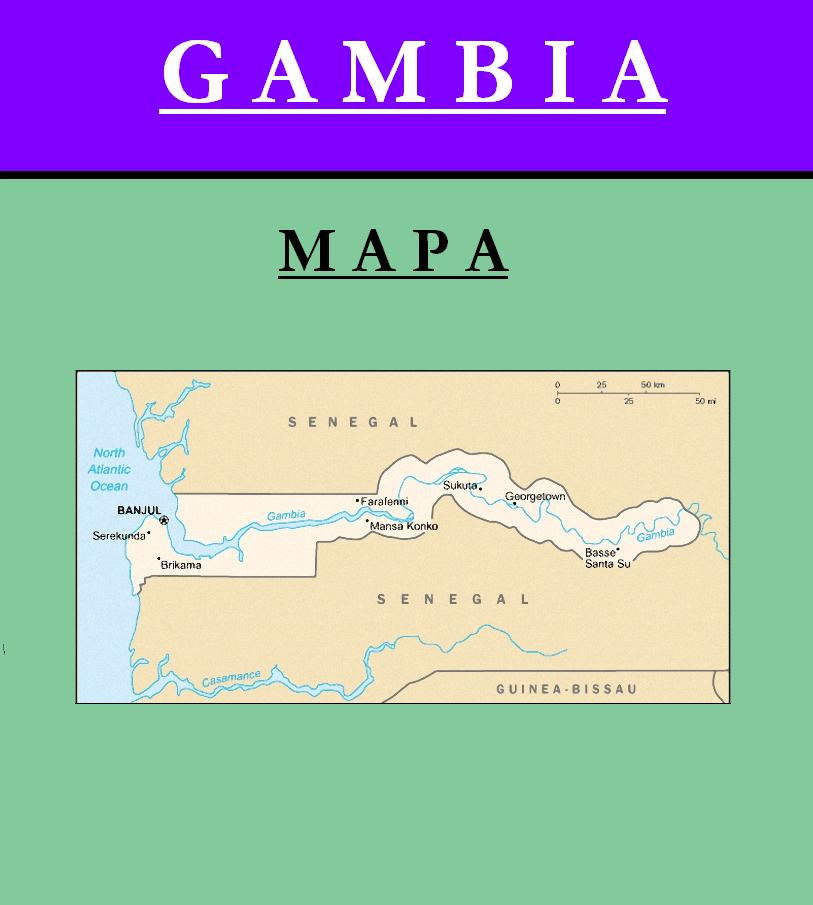 Escudo de MAPA DE GAMBIA