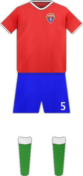 Equipación 03 SLECCIÓN GAMBIANA DE FUTBOL