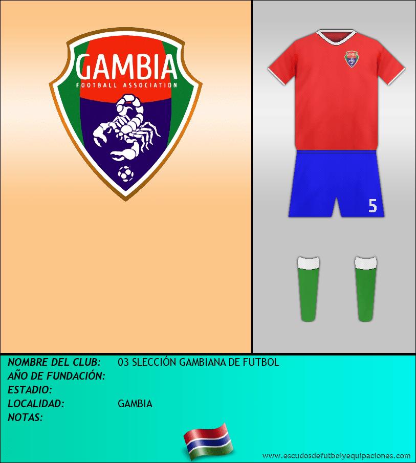 Escudo de 03 SLECCIÓN GAMBIANA DE FUTBOL