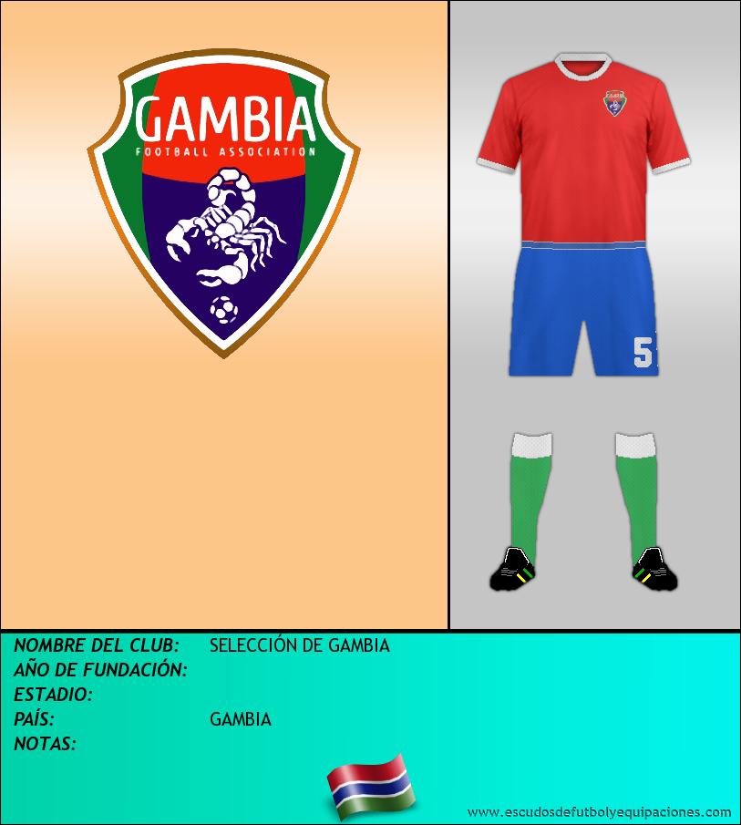 Escudo de SELECCIÓN DE GAMBIA