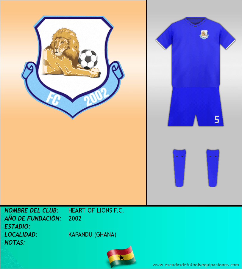 Escudo de HEART OF LIONS F.C.