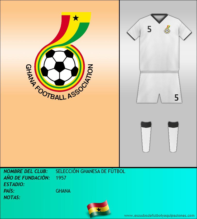 Escudo de SELECCIÓN GHANESA DE FÚTBOL