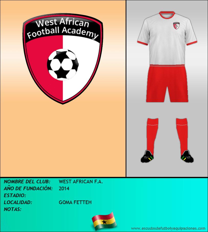 Escudo de WEST AFRICAN F.A.