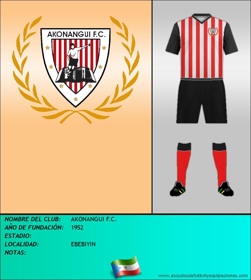 Escudo de AKONANGUI F.C.