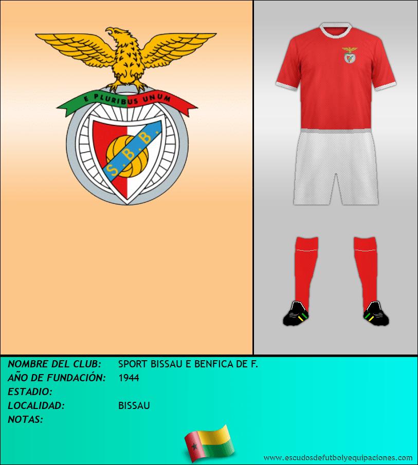 Escudo de SPORT BISSAU E BENFICA DE F.