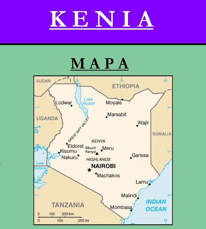 Escudo de MAPA DE KENIA
