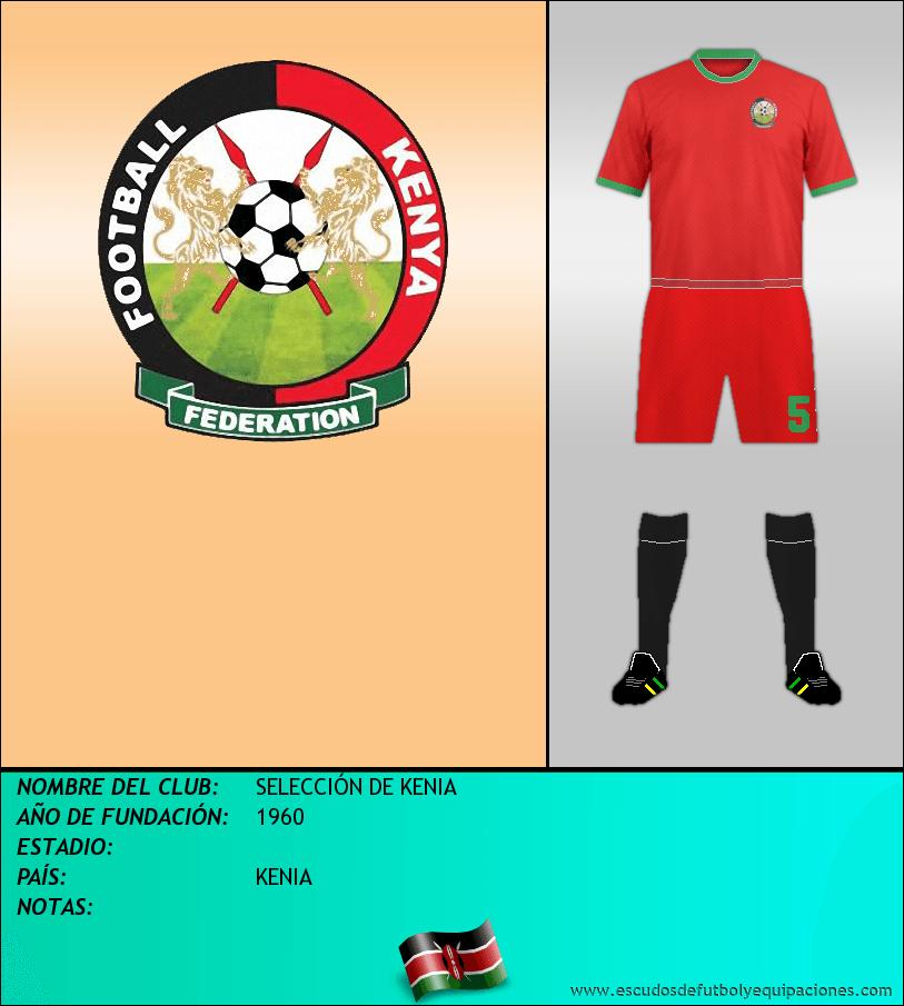 Escudo de SELECCIÓN DE KENIA