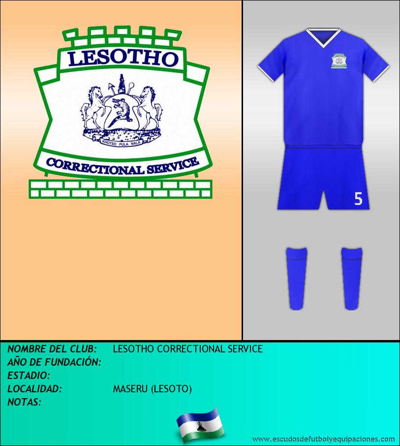 Escudo de LESOTHO CORRECTIONAL SERVICE