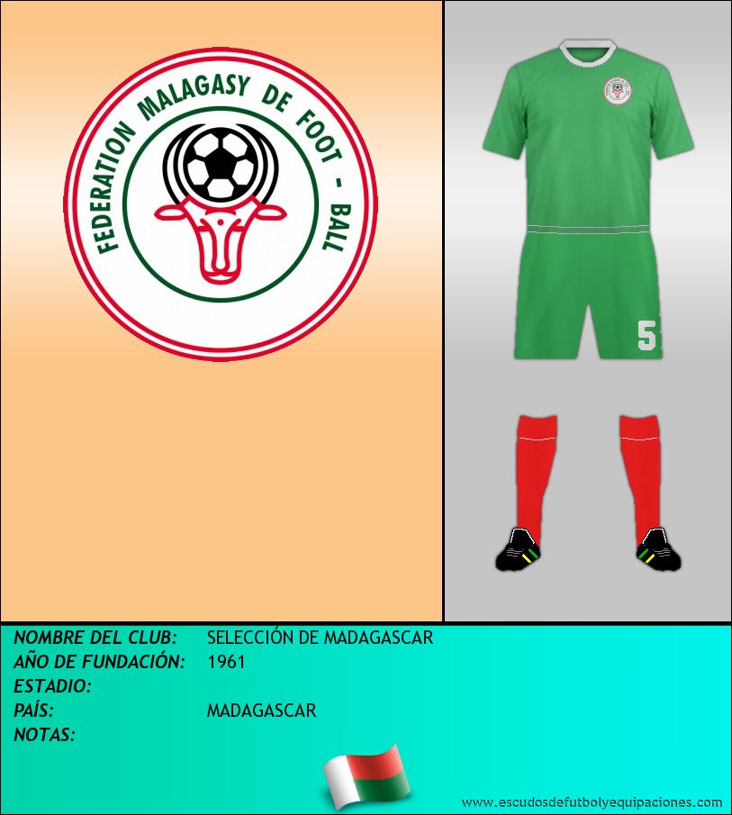 Escudo de SELECCIÓN DE MADAGASCAR