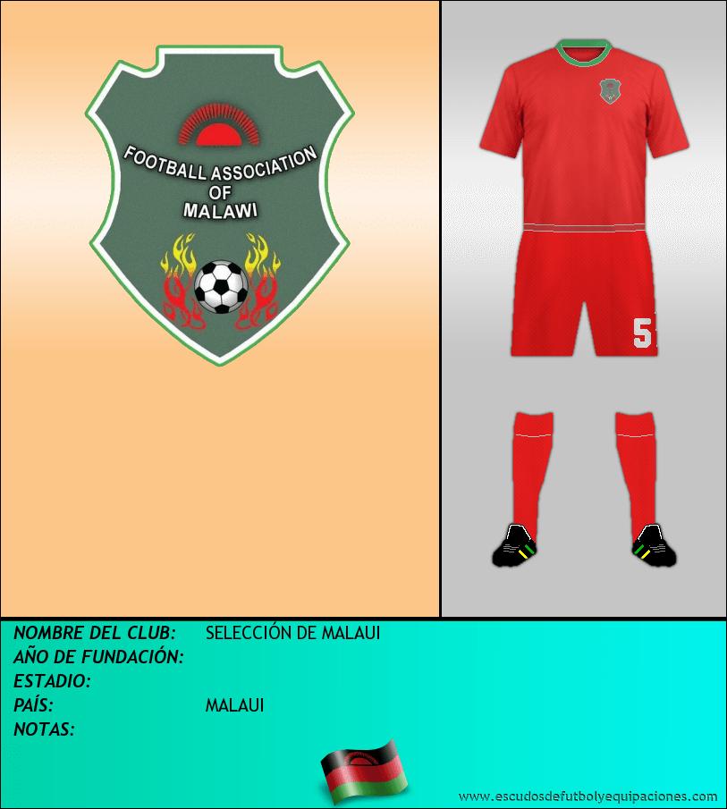 Escudo de SELECCIÓN DE MALAUI