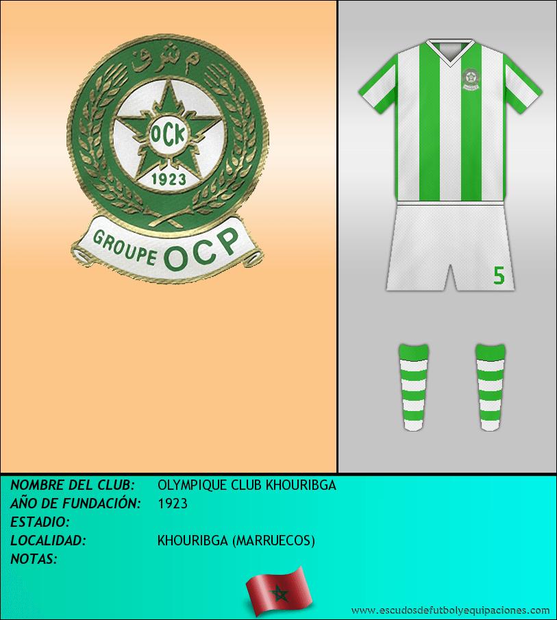 Escudo de OLYMPIQUE CLUB KHOURIBGA