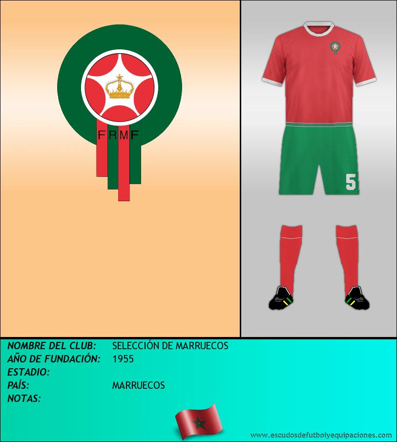 Escudo de SELECCIÓN DE MARRUECOS