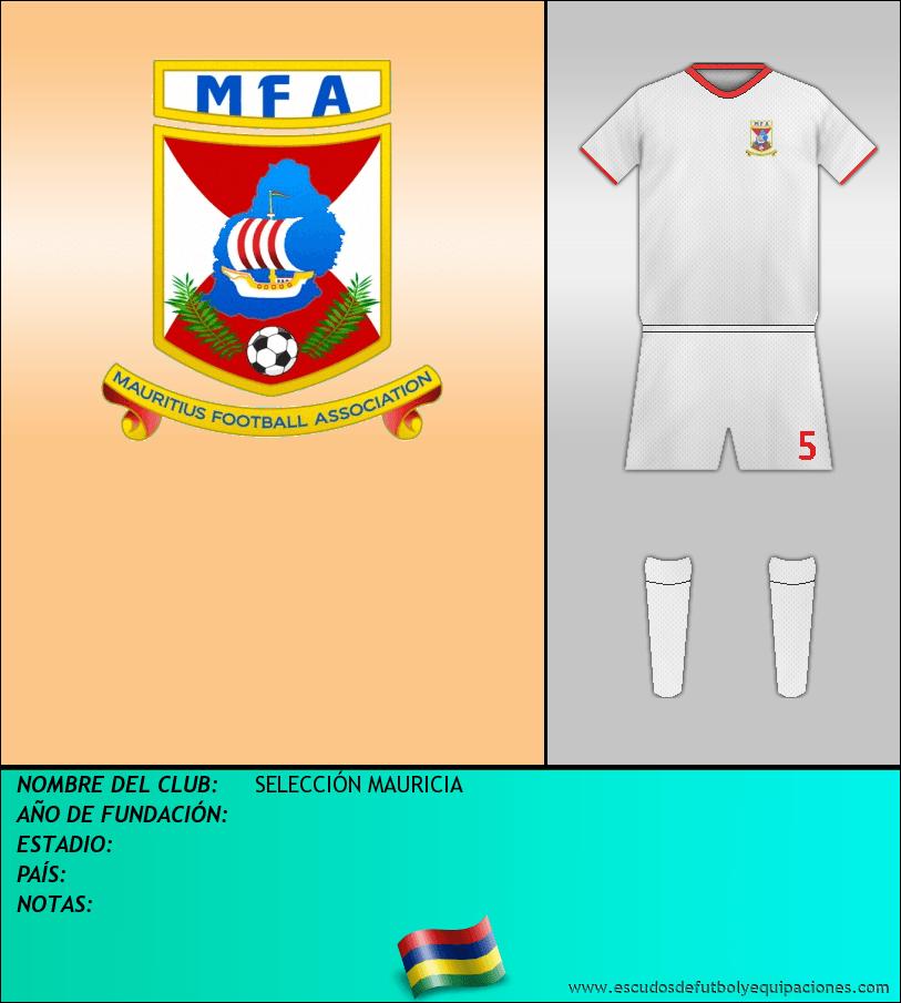 Escudo de SELECCIÓN MAURICIA