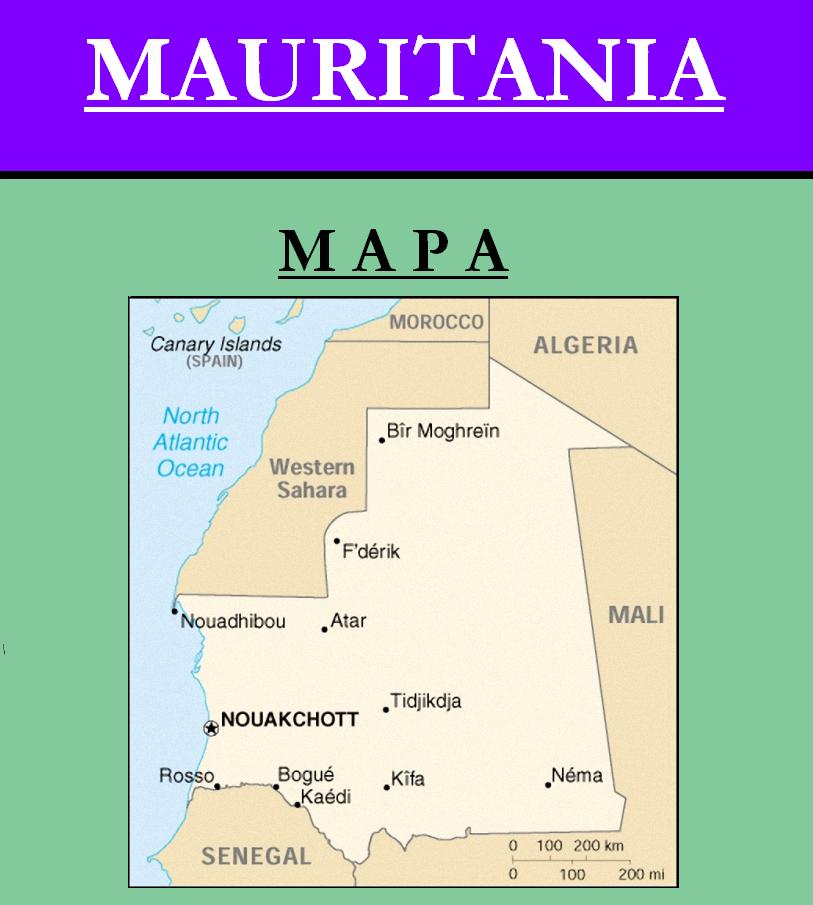 Escudo de MAPA DE MAURITANIA