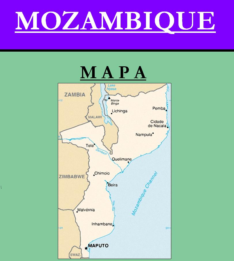 Escudo de MAPA DE MOZAMBIQUE