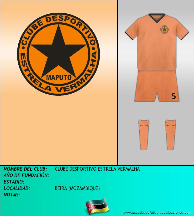 Escudo de CLUBE DESPORTIVO ESTRELA VERMALHA