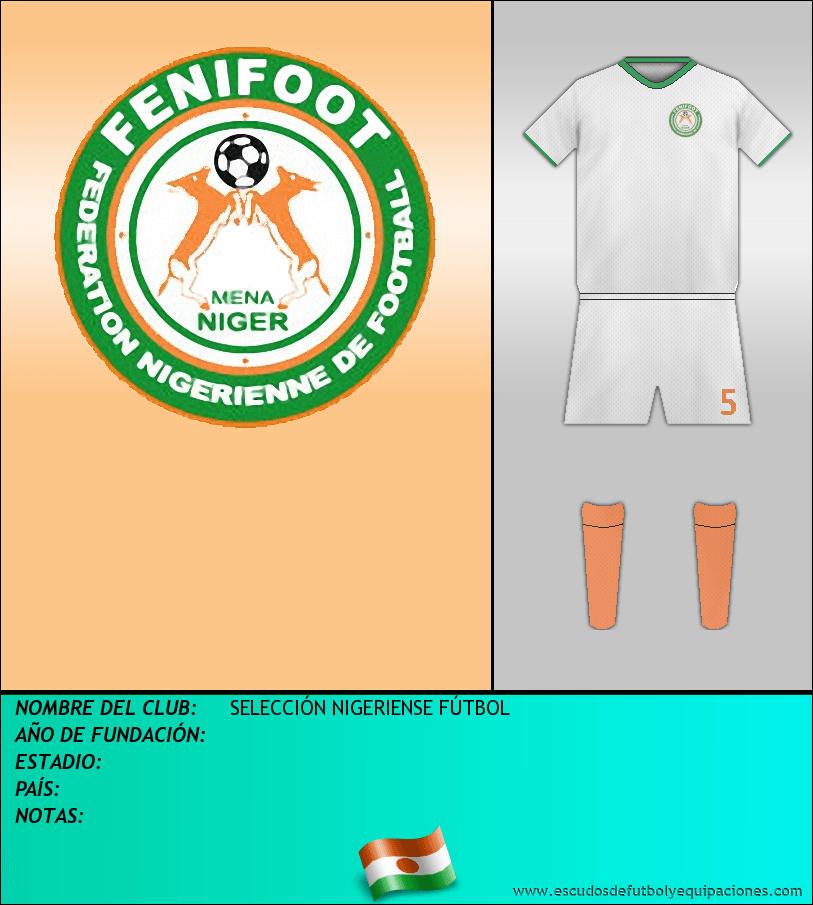 Escudo de SELECCIÓN NIGERIENSE FÚTBOL