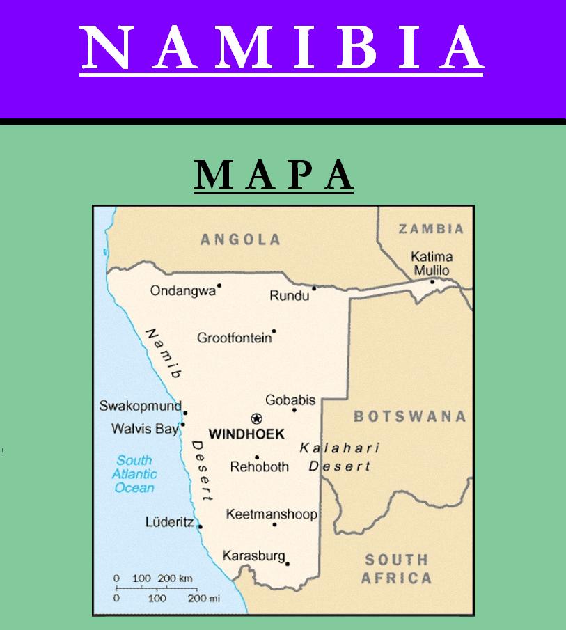 Escudo de MAPA DE NAMIBIA