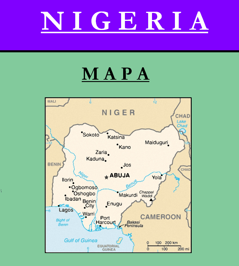 Escudo de MAPA DE NIGERIA
