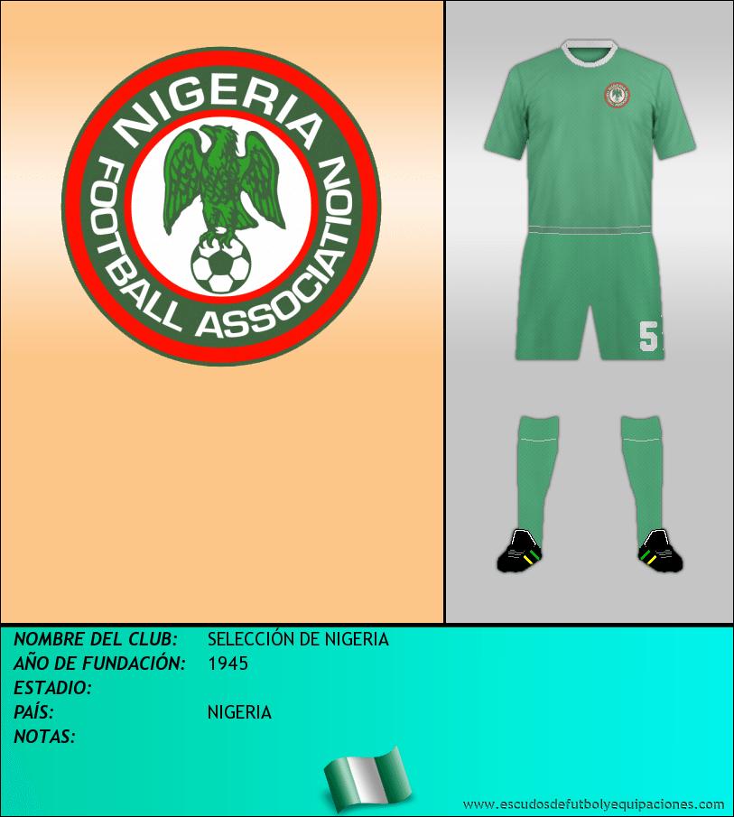 Escudo de SELECCIÓN DE NIGERIA