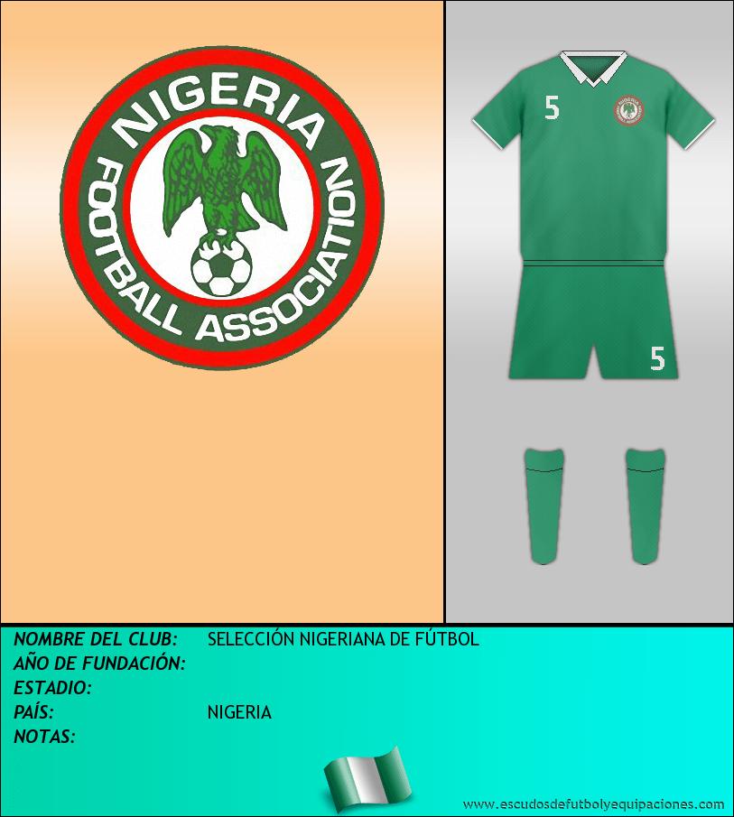 Escudo de SELECCIÓN NIGERIANA DE FÚTBOL
