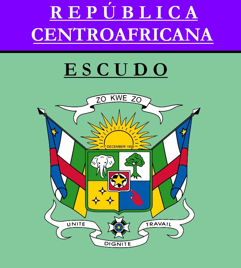 Escudo de ESCUDO DE REPÚBLICA CENTROAFRICANA