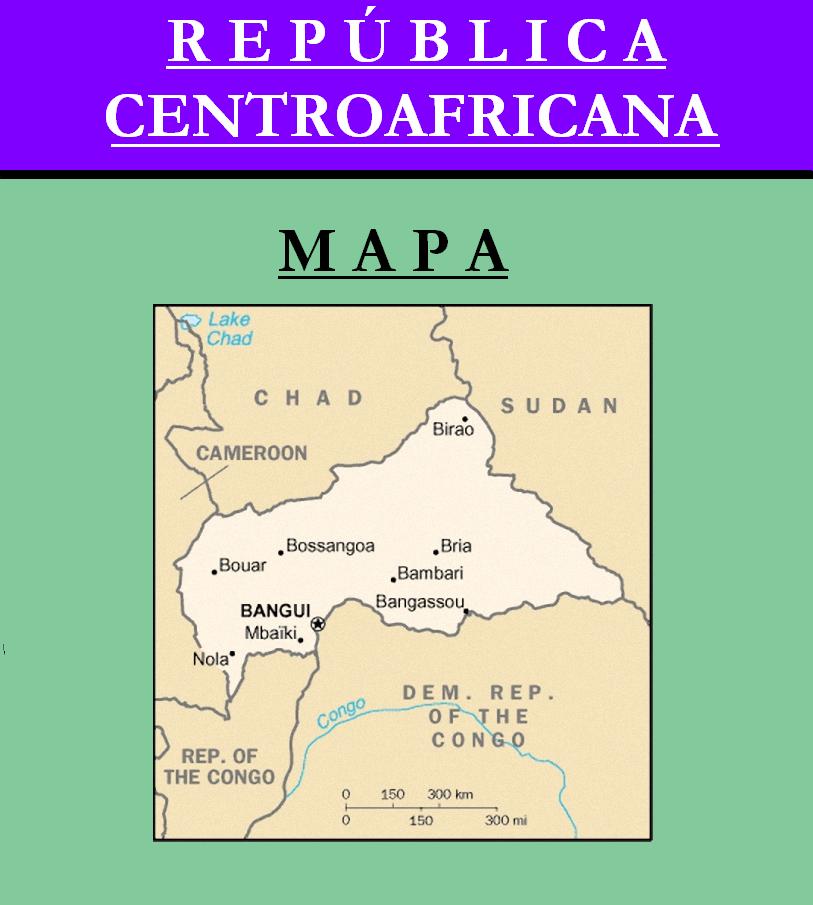 Escudo de MAPA DE REPÚBLICA CENTROAFRICANA