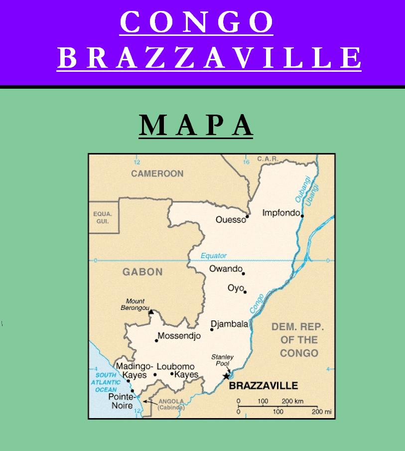 Escudo de MAPA DE REPÚBLICA DEL CONGO